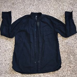H&M Black/Blue button down shirt 👔 M